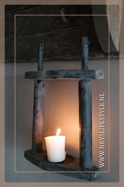 Hang lantaarn hout | black