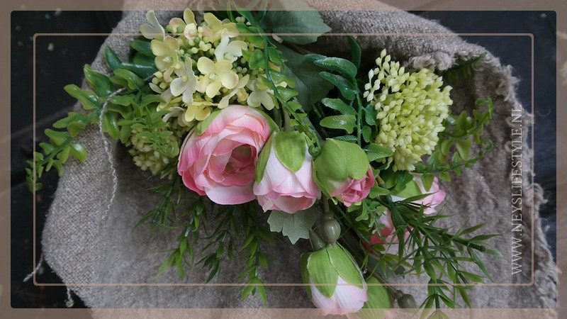 Bosje kunst bloemen | roze