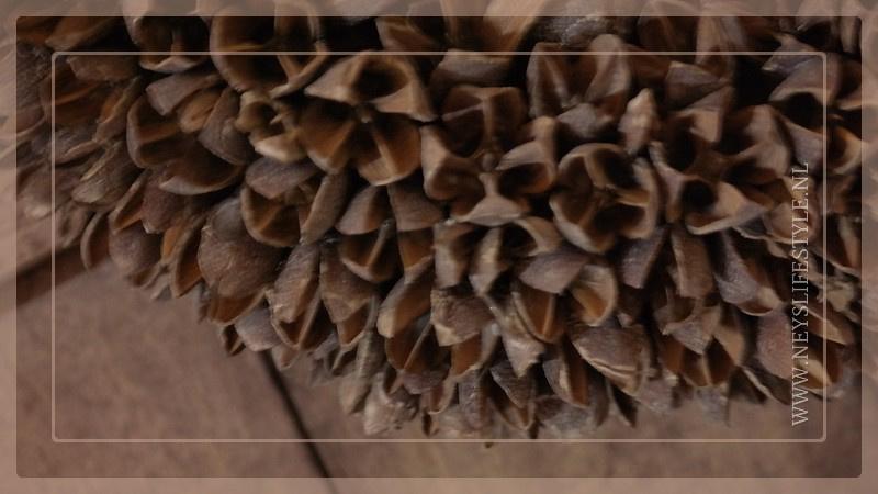 Krans Bakulli   grijs   30 cm