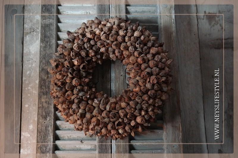 Krans coco fruit | naturel | 45 cm