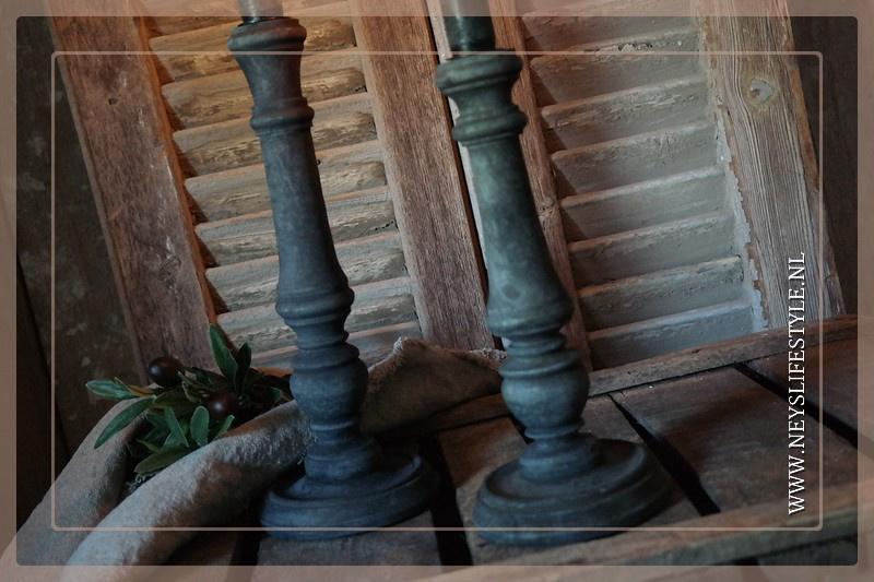 Kandelaar hout | black M