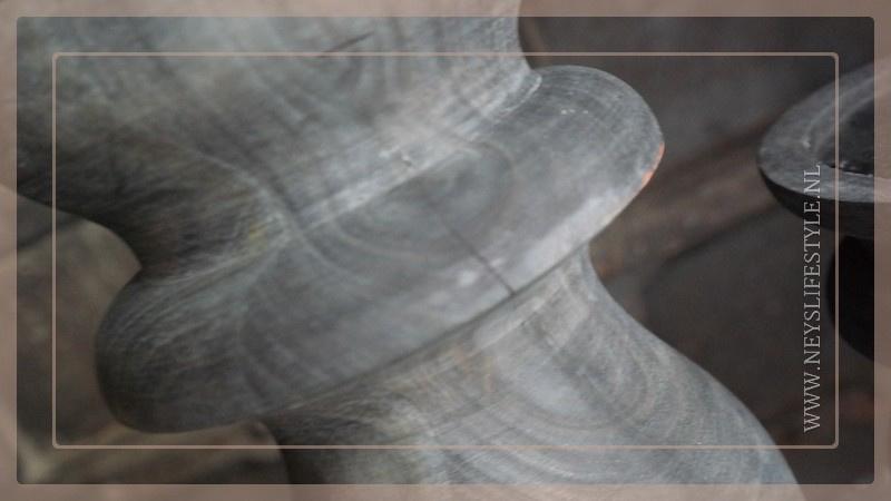 Klos kandelaar dark grey | L