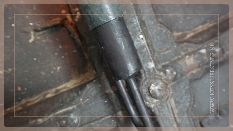 Luikkandelaar zwart metaal | kaars