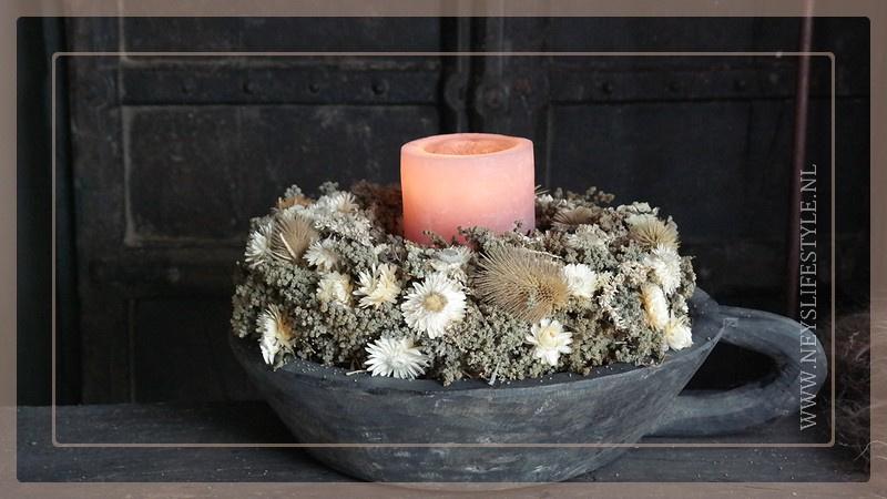 Krans droogbloemen Jewel | 35 cm