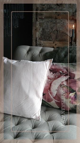 Kussen linnen 45 x 45 cm | roze