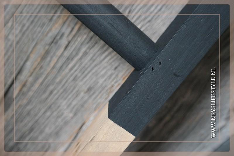 Ladder hout | half black