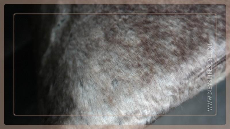Luxe bont kussen 45 x 45 cm bruin/beige