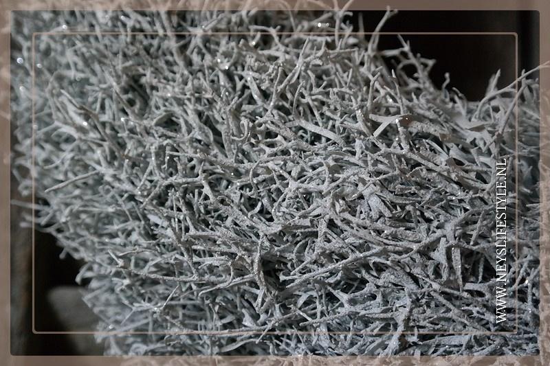 Krans Iron White glitter | 45 cm