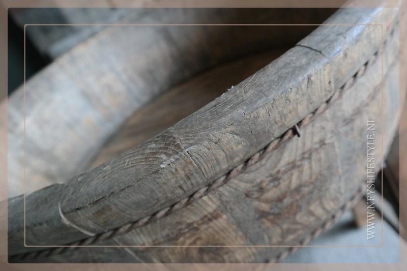 Oude houten olijfbak | 1