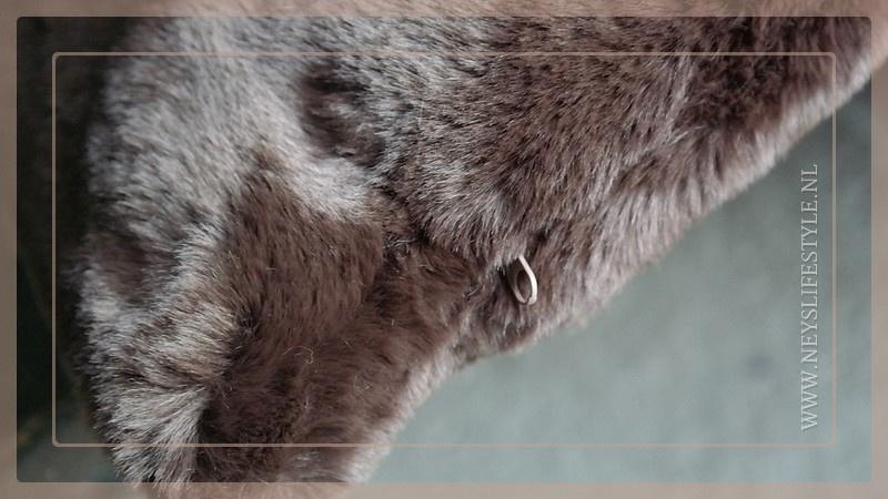 Luxe bont kussen 45 x 45 cm donkerbruin