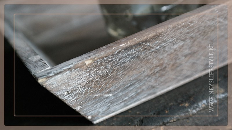 Dienblad | wood greywash