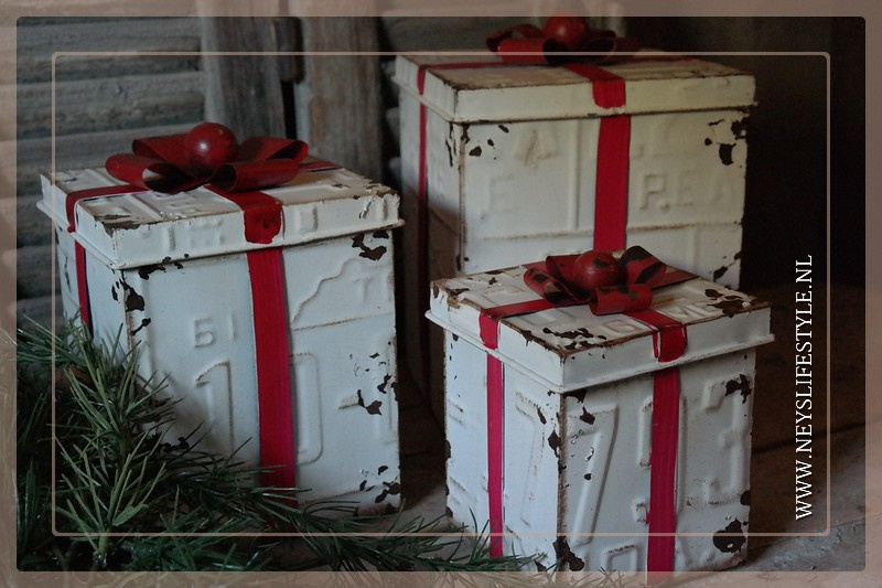 Cadeaubox set zink | old white