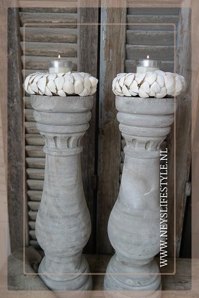 Windlicht shell Gilli 15 cm