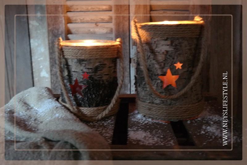 Windlicht wood Stars | S
