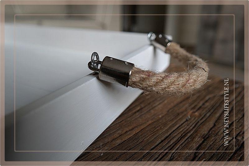 Dienblad Wit met touw