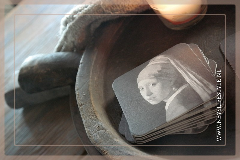 Onderzetters vilt | Meisje met parel
