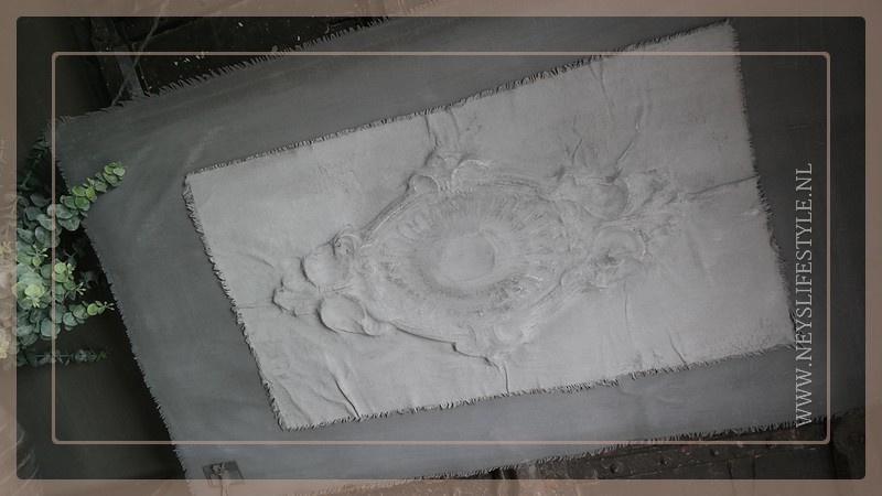 Kalkdoek ornament grijs | 2