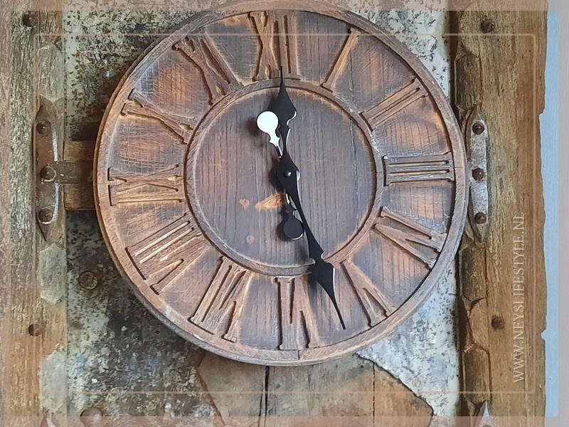 Klok hout | 40 cm