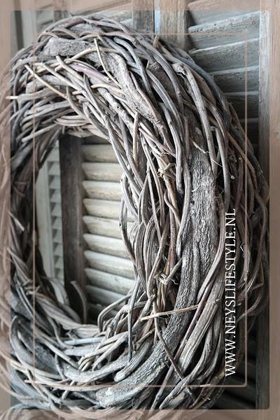 Krans Crazy Vine | Greywash | 65cm