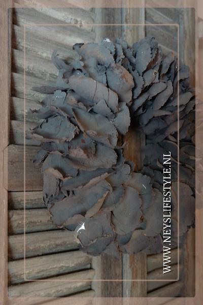 Krans palm petal | grey | 38 cm