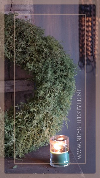 Krans Asparagus naturel |  60 cm