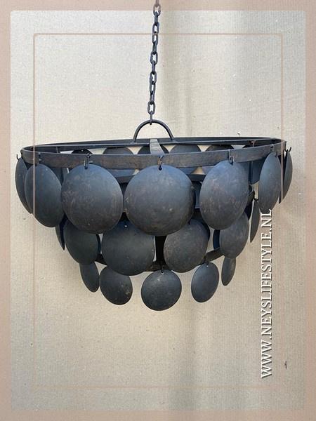 Schijfjeslamp excl fitting | black M