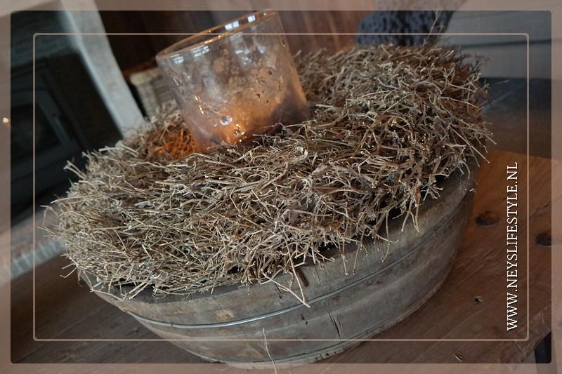 Oude houten ronde trog/bak | 3