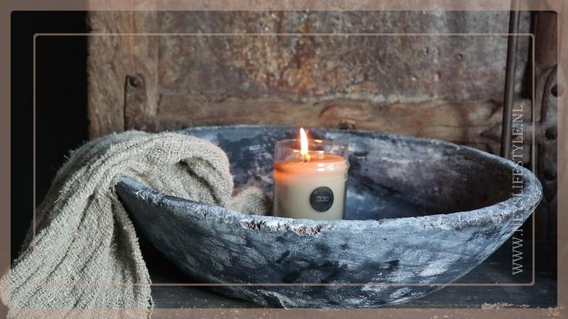 Oude houten schaal | greywash