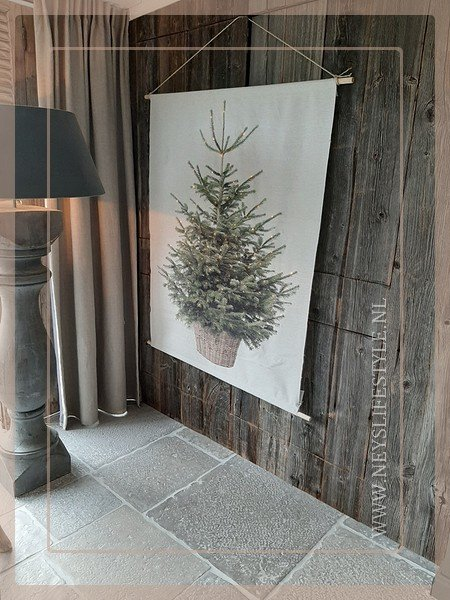 Wanddoek XMAS tree LED | L
