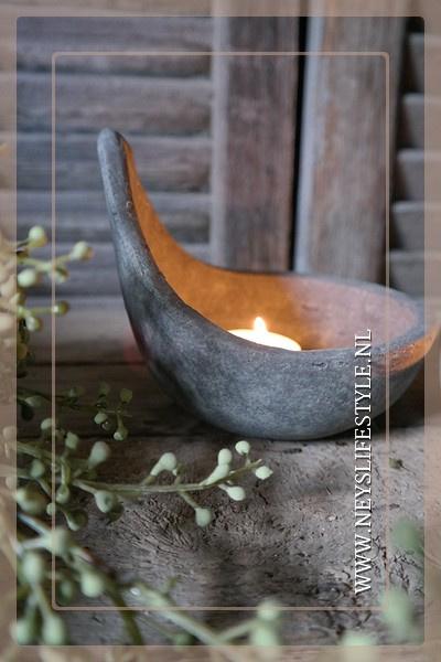 Set theelichtjes Majestic  spoon| grey