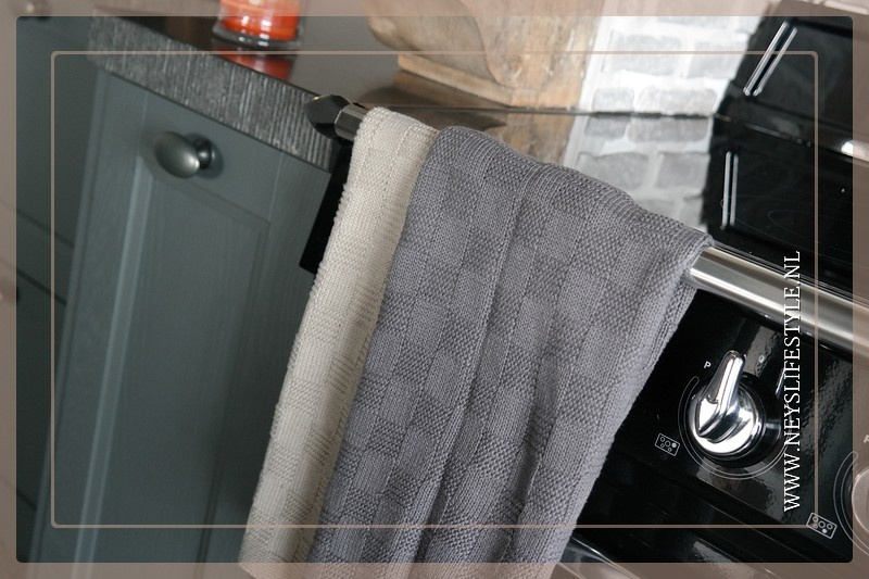 Handdoek block | grijs