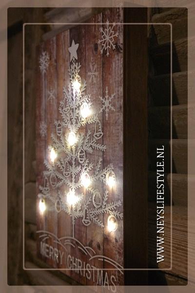 Houten bord LED | XMAS