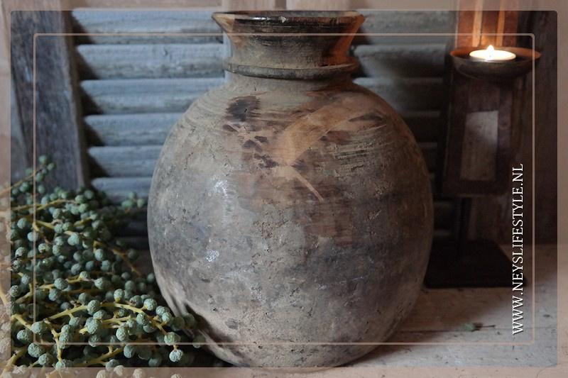 Oude Nepalese kruik rond | 3