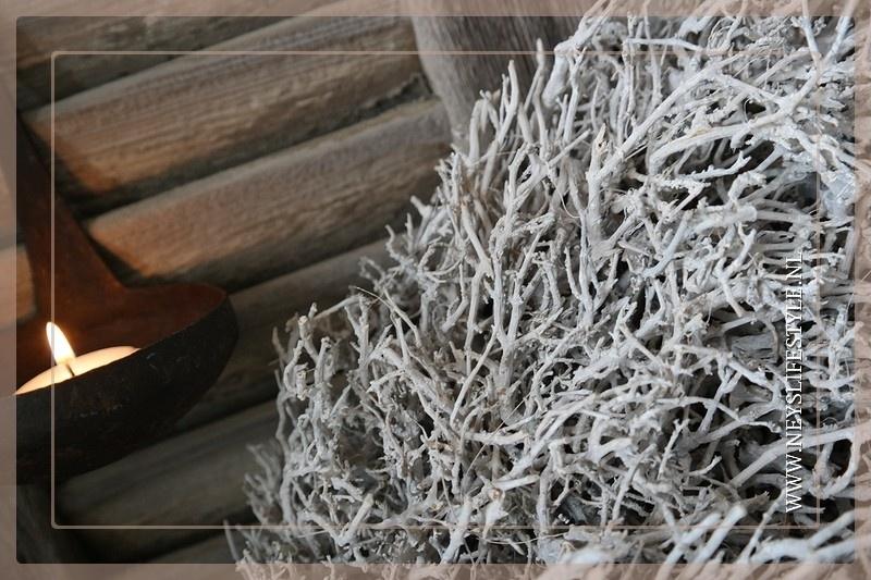 Krans Rustic white 65 cm
