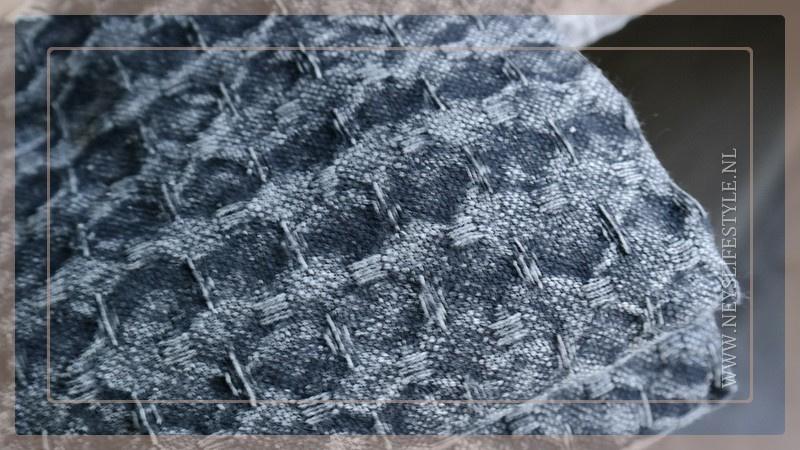 Plaid 220 x 240 cm | wafel donkerrijs