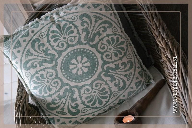 Kussen Praisa | green 45 x 45 cm