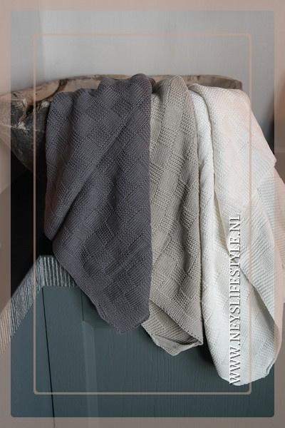 Handdoek block | wit