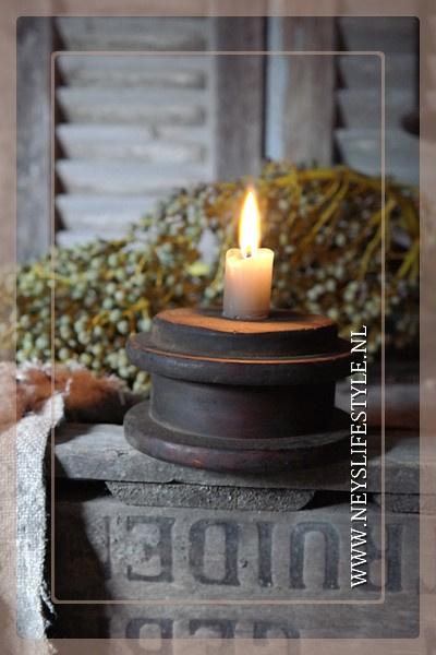 Diner kaarsen laag | stone