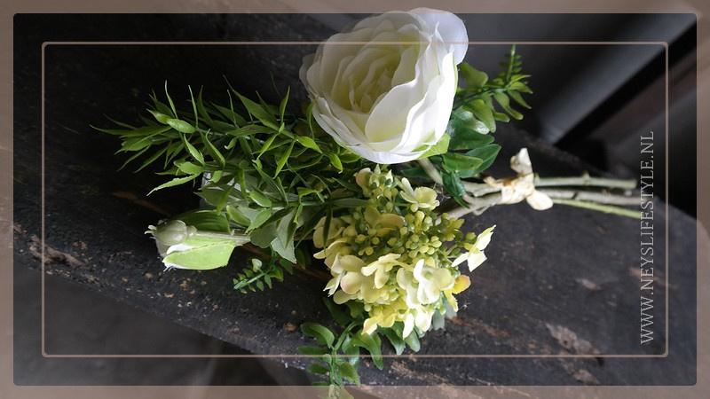 Bosje kunst bloemen | wit