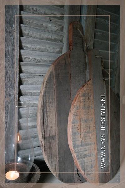 Houten plank ovaal | M