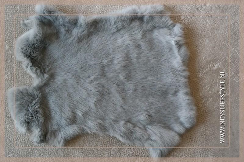 Konijnenvachtje grijs