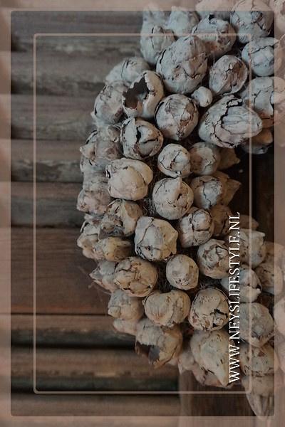 Krans coco fruit | whitewash | 30 cm