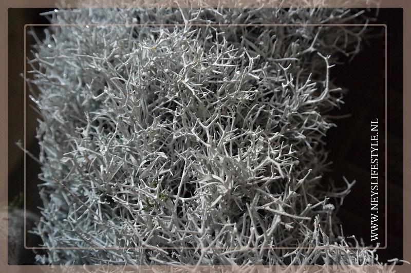 Krans Iron White glitter | 60 cm