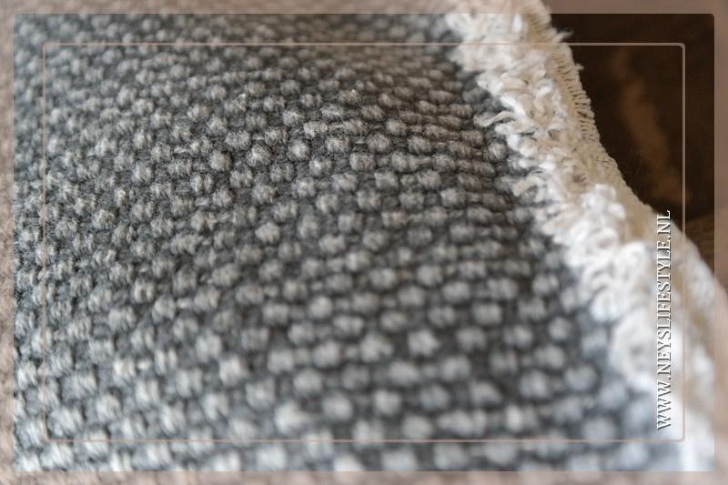 Kussen stonewashed linnen grey 45 x 45 cm