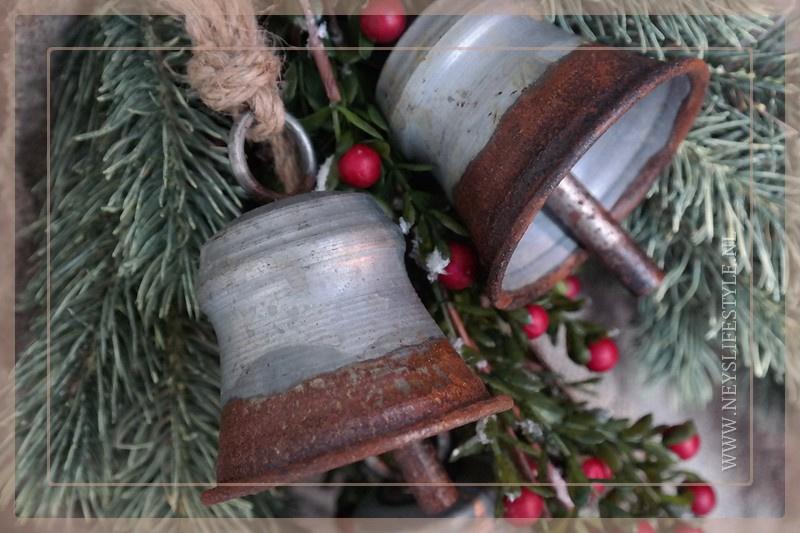 Set 3 bellen | zink vintage