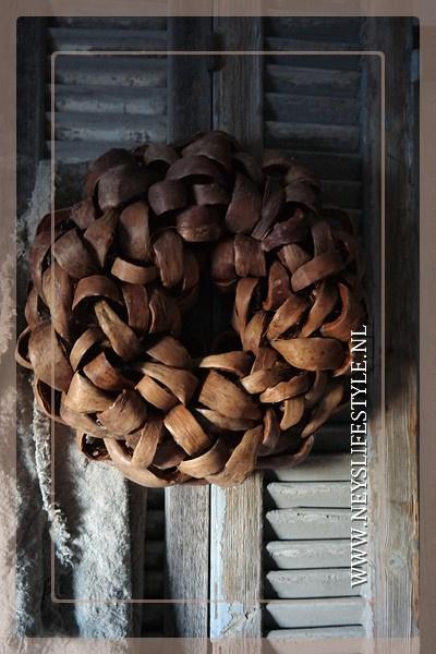 Krans Coco  slice | natrurel | 38cm
