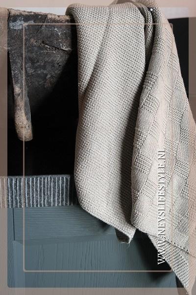 Handdoek rib | zand