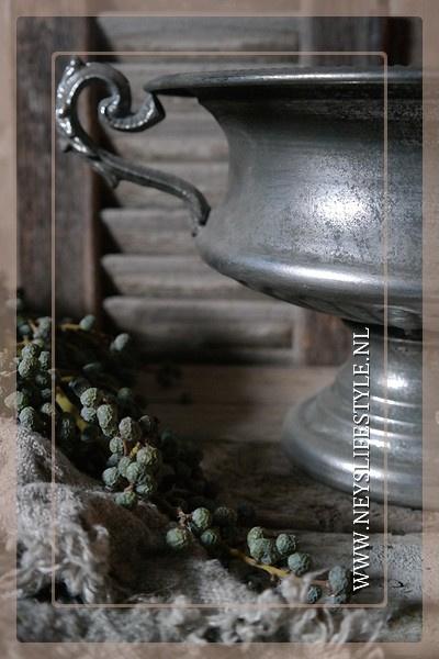 Franse pot silver| laag
