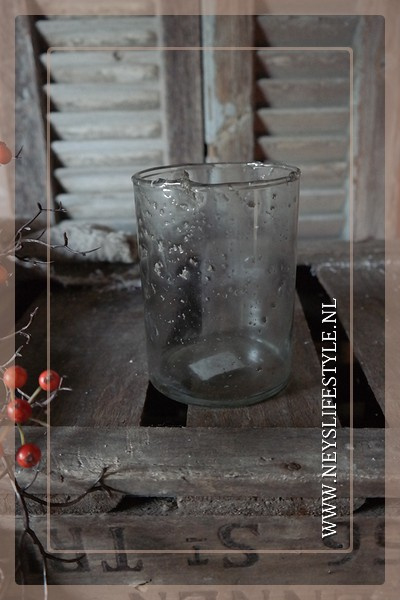 Windlicht bubble glas