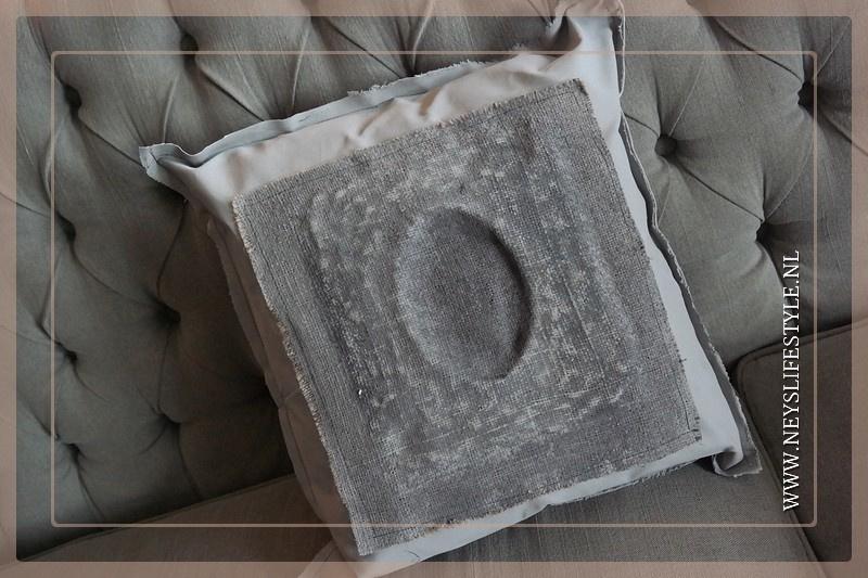 Kussen Emaille linnen | light grey